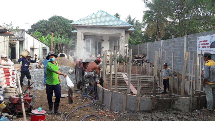 Thi công Biệt thự nhà vườn Cù lao phố tại Biên Hòa Đồng Nai - Ảnh công trường 10