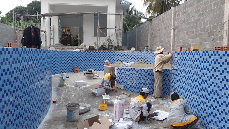 Thi công Biệt thự nhà vườn Cù lao phố tại Biên Hòa Đồng Nai - Ảnh công trường 11