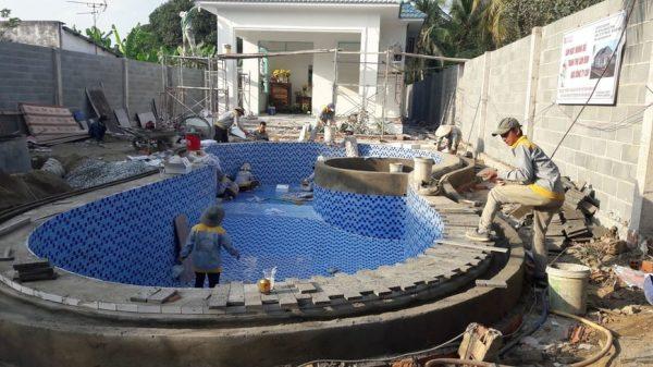 Thi công Biệt thự nhà vườn Cù lao phố tại Biên Hòa Đồng Nai - Ảnh công trường 12