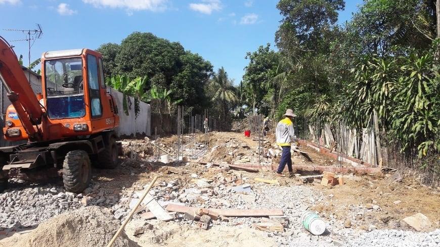 Thi công Biệt thự nhà vườn Cù lao phố tại Biên Hòa Đồng Nai - Ảnh công trường 1
