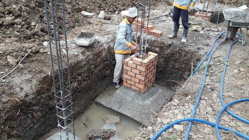 Thi công Biệt thự nhà vườn Cù lao phố tại Biên Hòa Đồng Nai - Ảnh công trường 3