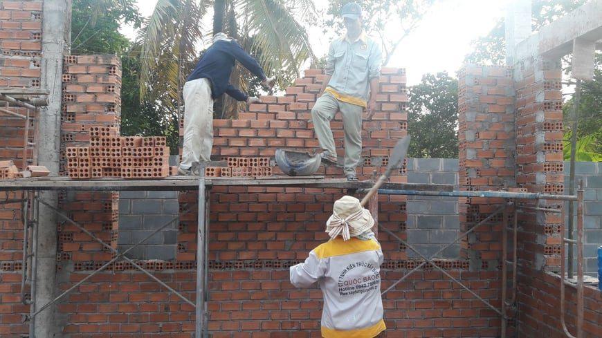 Thi công Biệt thự nhà vườn Cù lao phố tại Biên Hòa Đồng Nai - Ảnh công trường 4