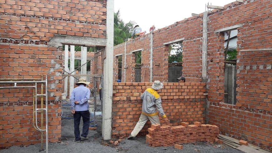 Thi công Biệt thự nhà vườn Cù lao phố tại Biên Hòa Đồng Nai - Ảnh công trường 5