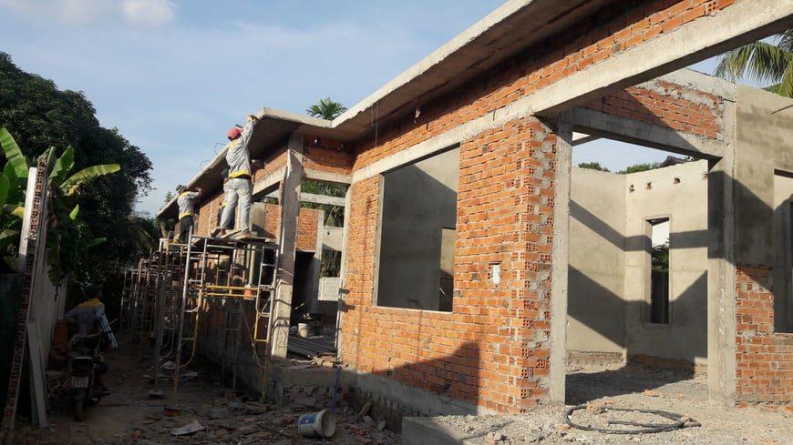 Thi công Biệt thự nhà vườn Cù lao phố tại Biên Hòa Đồng Nai - Ảnh công trường 6
