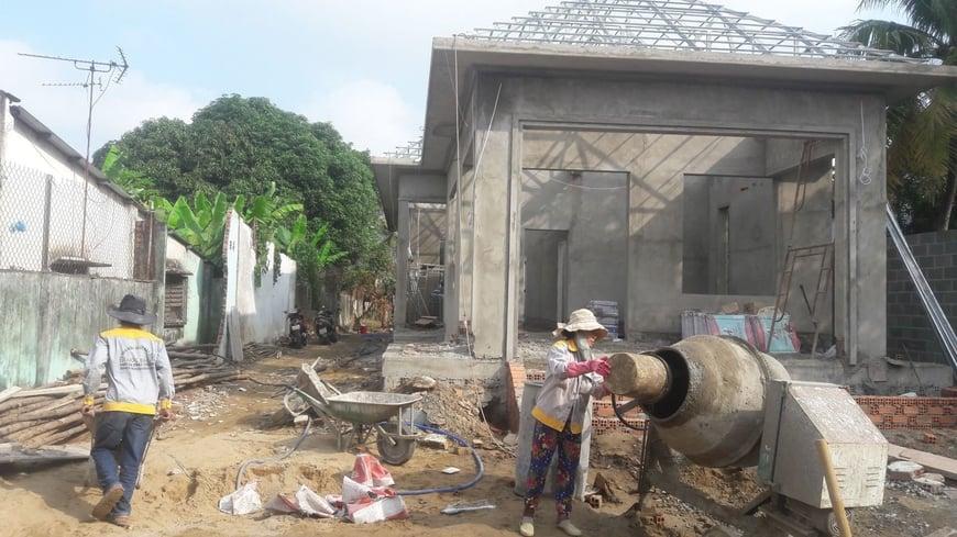 Thi công Biệt thự nhà vườn Cù lao phố tại Biên Hòa Đồng Nai - Ảnh công trường 7