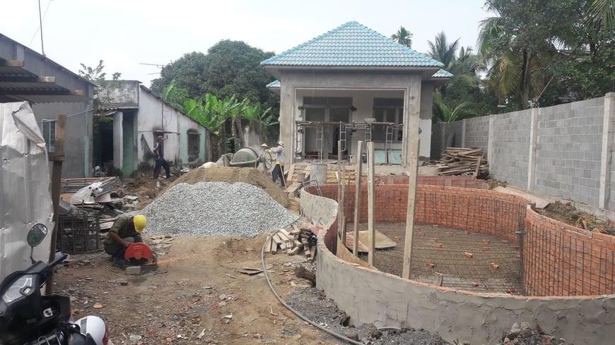 Thi công Biệt thự nhà vườn Cù lao phố tại Biên Hòa Đồng Nai - Ảnh công trường 9