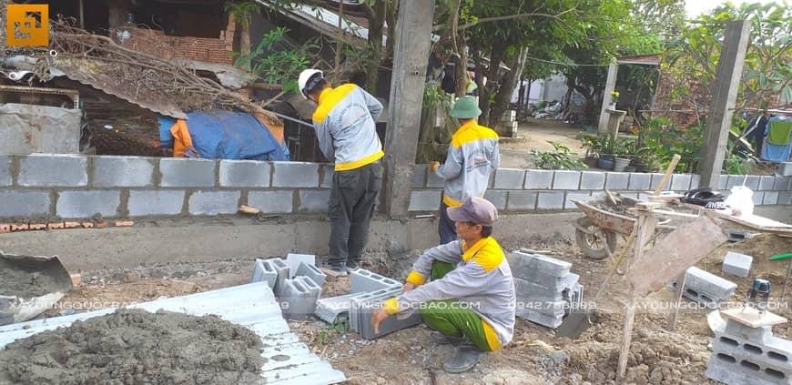 Thi công biệt thự nhà vườn chị Kiều Anh tại Biên Hòa - Ảnh công trường 7