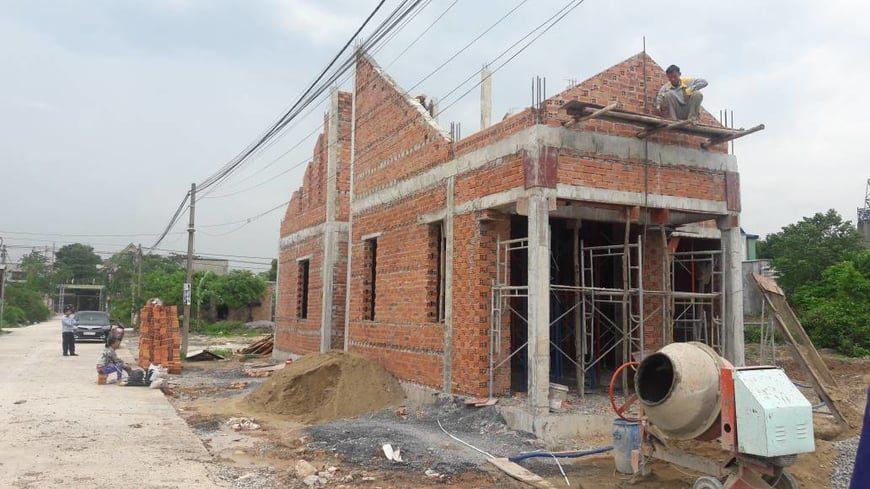 Thi công biệt thự sân vườn gia đình anh Hà tại Trảng Bom - Đồng Nai - Ảnh công trường 4