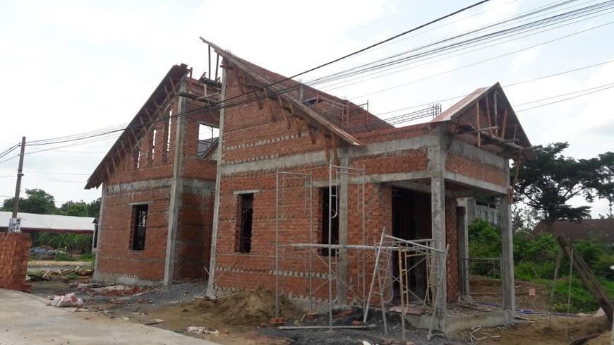Thi công biệt thự sân vườn gia đình anh Hà tại Trảng Bom - Đồng Nai - Ảnh công trường 6