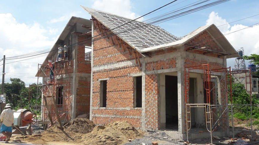 Thi công biệt thự sân vườn gia đình anh Hà tại Trảng Bom - Đồng Nai - Ảnh công trường 8