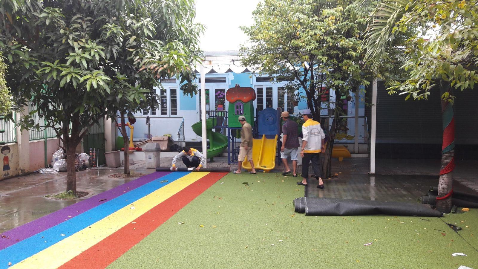 Thi công hồ bơi trường Mầm non Cầu Vồng - Ảnh công trường 1