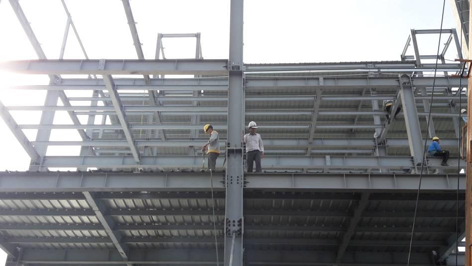 Thi công nhà cao tầng kết cấu thép hình - Ảnh công trường 15