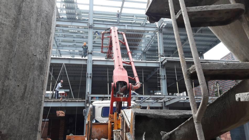 Thi công nhà cao tầng kết cấu thép hình - Ảnh công trường 7