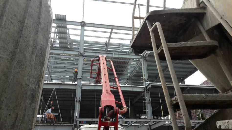 Thi công nhà cao tầng kết cấu thép hình - Ảnh công trường 8