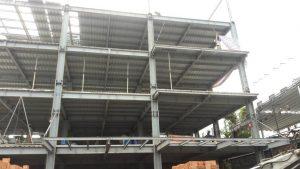 Thi công nhà cao tầng kết cấu thép hình - Ảnh công trường 17