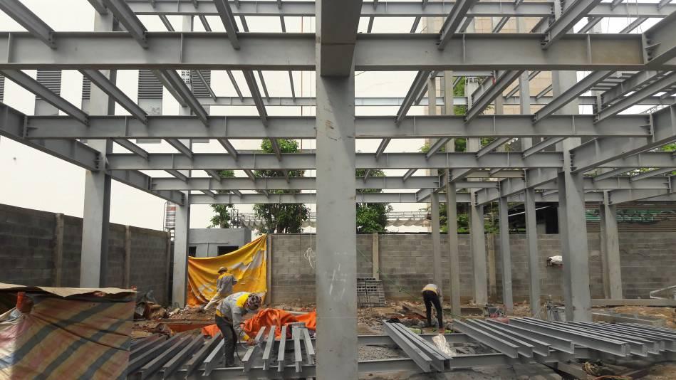 Thi công nhà cao tầng kết cấu thép hình - Ảnh công trường 6