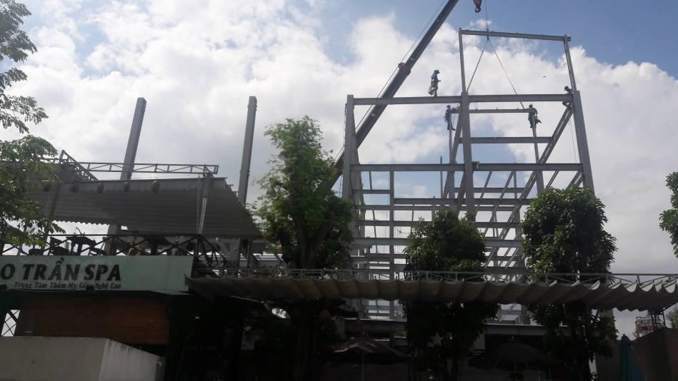 Thi công nhà cao tầng kết cấu thép hình - Ảnh công trường 11