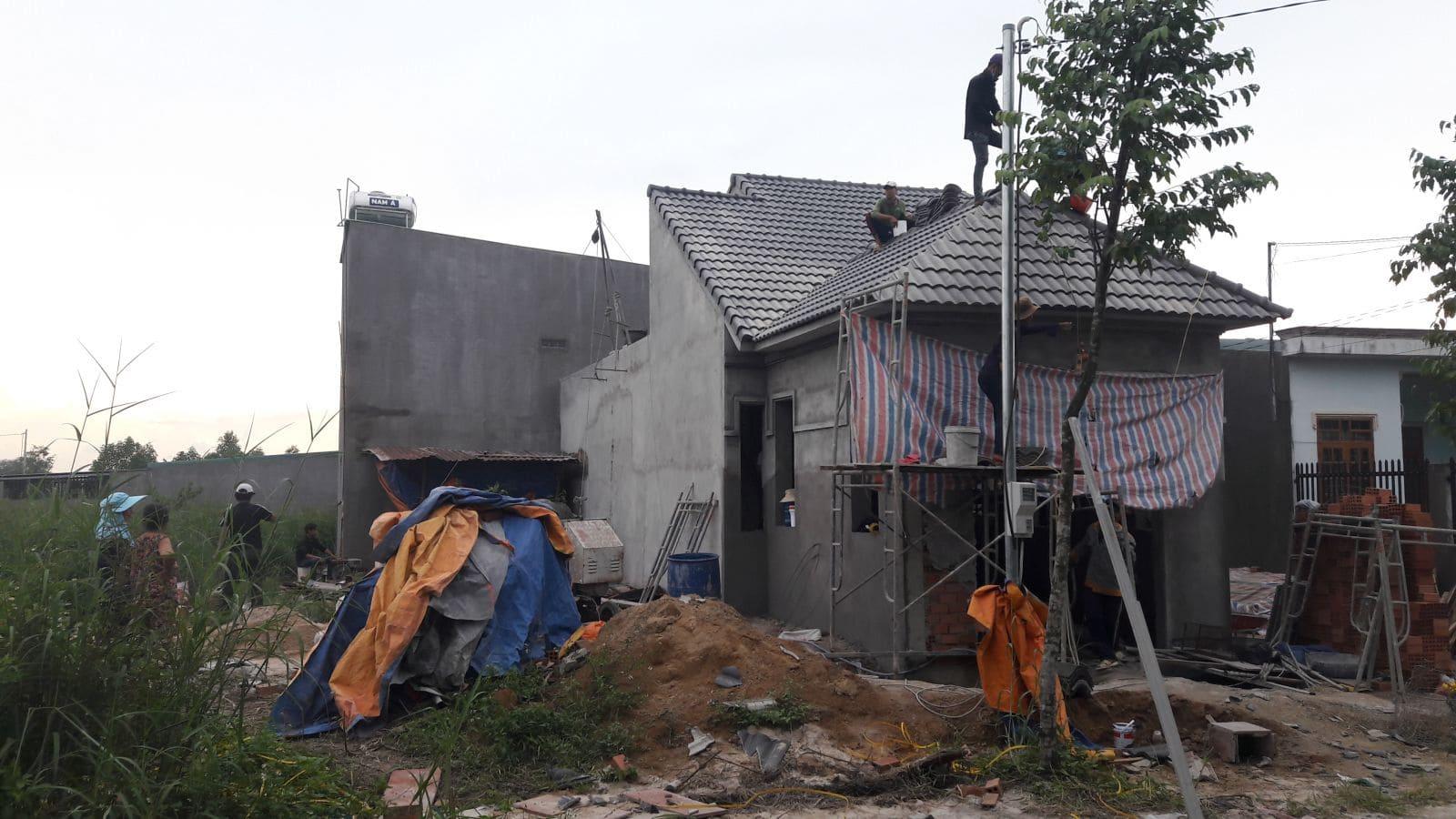 Thi công nhà cấp 4 mái thái cô Minh tại Biên Hòa - Ảnh thi công 4