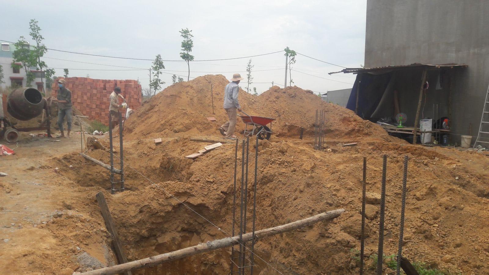 Thi công nhà cấp 4 mái thái cô Minh tại Biên Hòa - Ảnh thi công 1