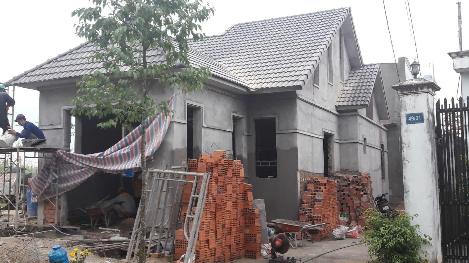 Thi công nhà cấp 4 mái thái cô Minh tại Biên Hòa - Ảnh thi công 5