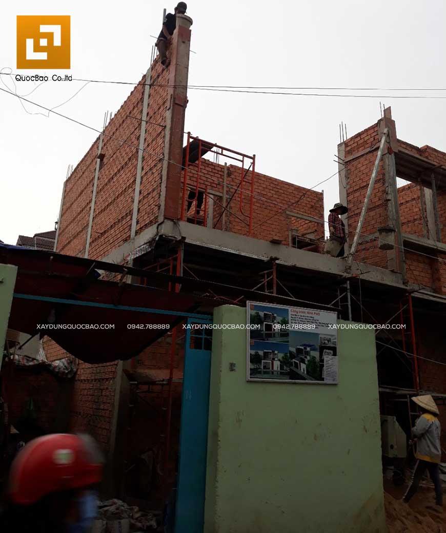 Thi công nhà phố 1 trệt 1 lầu anh Bằng tại Biên Hòa - Ảnh 22