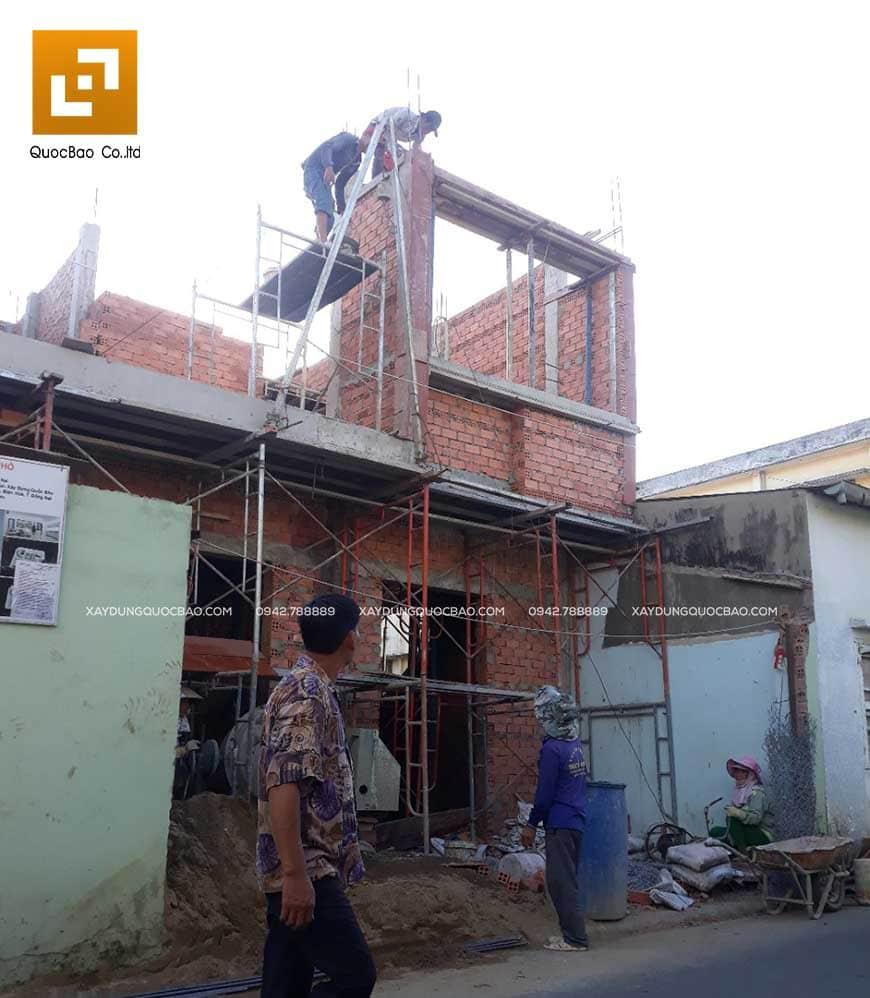Thi công nhà phố 1 trệt 1 lầu anh Bằng tại Biên Hòa - Ảnh 21