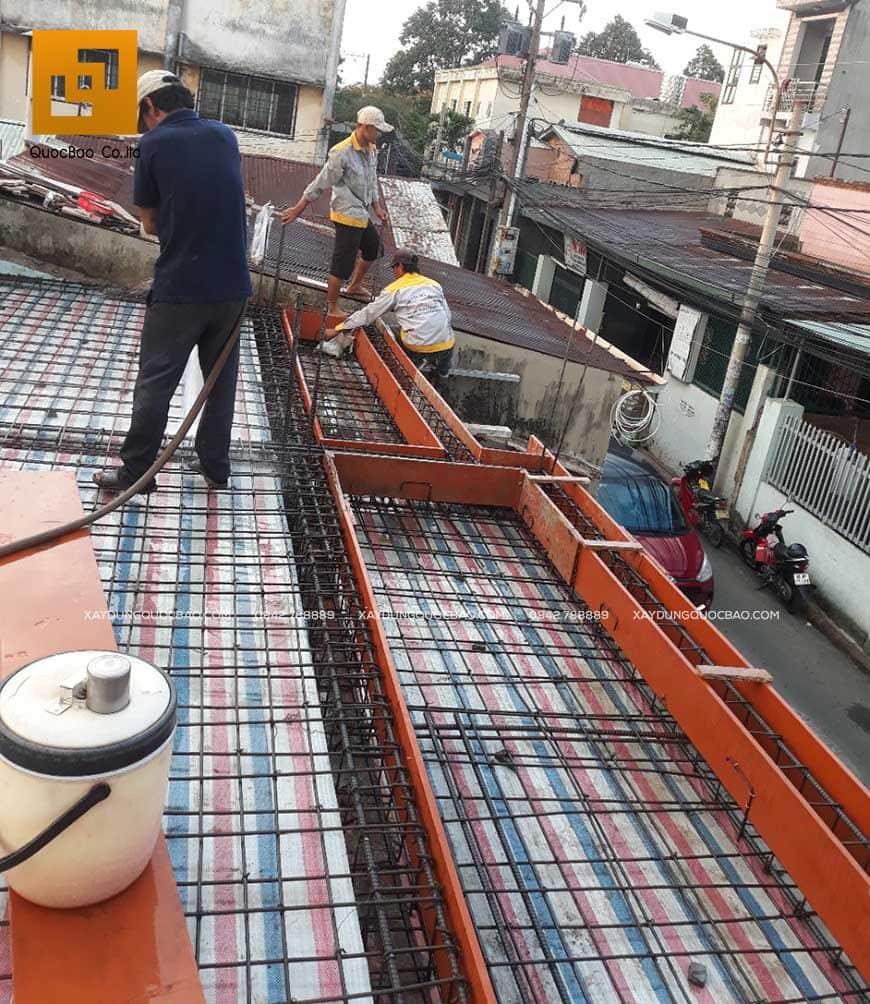 Thi công nhà phố 1 trệt 1 lầu anh Bằng tại Biên Hòa - Ảnh 12