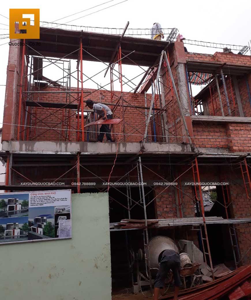 Thi công nhà phố 1 trệt 1 lầu anh Bằng tại Biên Hòa - Ảnh 24