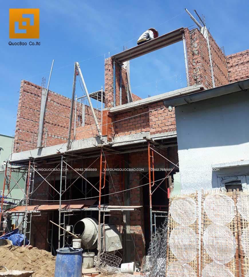 Thi công nhà phố 1 trệt 1 lầu anh Bằng tại Biên Hòa - Ảnh 23