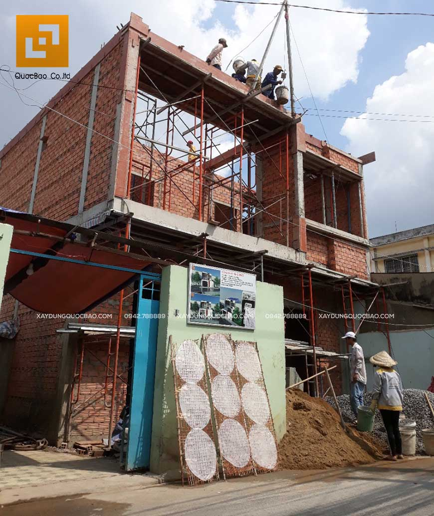 Thi công nhà phố 1 trệt 1 lầu anh Bằng tại Biên Hòa - Ảnh 25