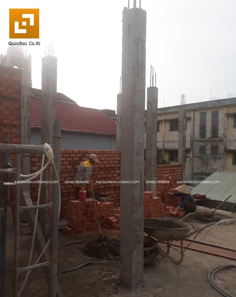 Thi công nhà phố 1 trệt 1 lầu anh Bằng tại Biên Hòa - Ảnh 17