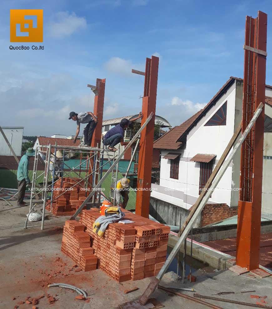 Thi công nhà phố 1 trệt 1 lầu anh Bằng tại Biên Hòa - Ảnh 13