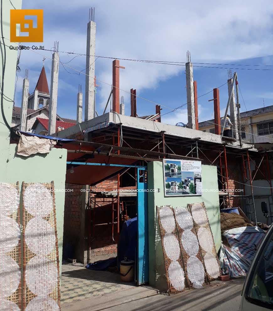 Thi công nhà phố 1 trệt 1 lầu anh Bằng tại Biên Hòa - Ảnh 15