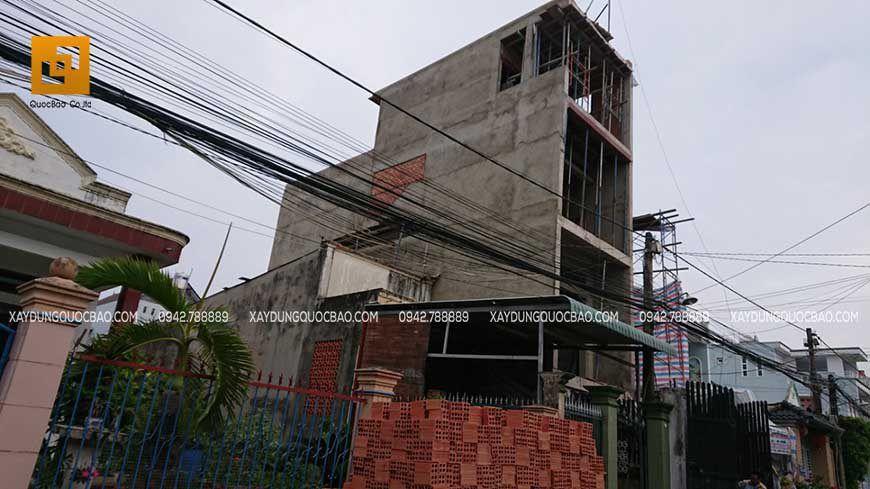 Công tác thi công xây tô nhà phố 4 tầng