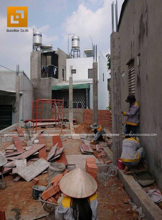 Thi công nhà phố anh Phương - Ảnh 1