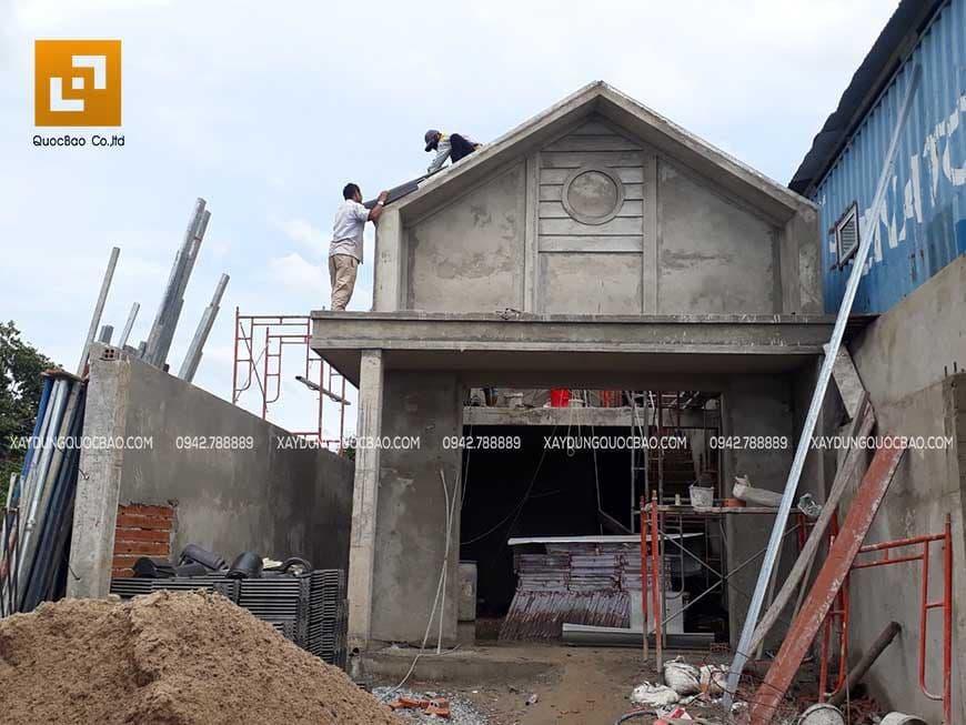Thi công phần hoàn thiện nhà phố Nhơn Trạch