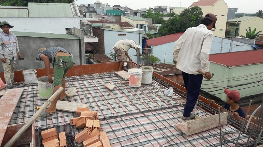 Thi công nhà phố hiện đại 4 tầng Biên Hòa Đồng Nai - Ảnh công trường 20