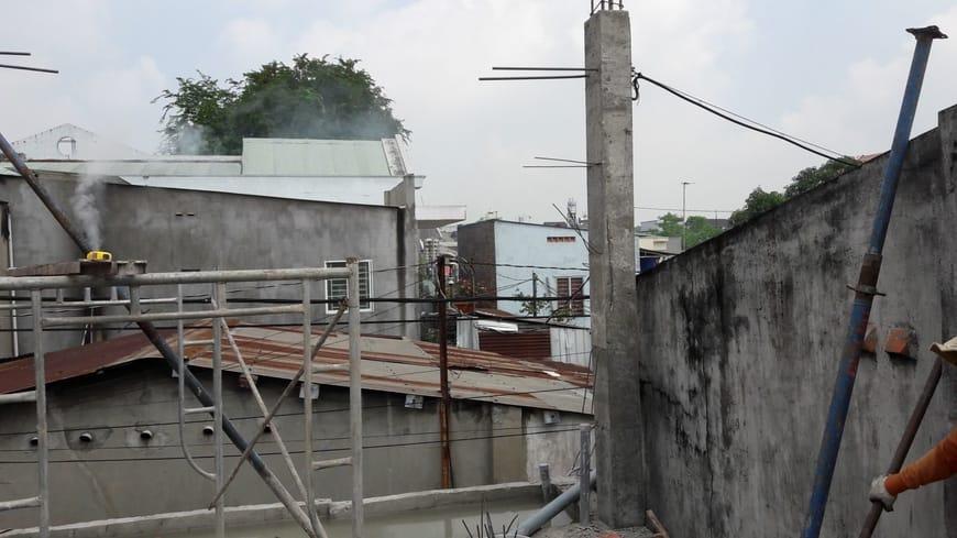 Thi công nhà phố hiện đại 4 tầng Biên Hòa Đồng Nai - Ảnh công trường 18