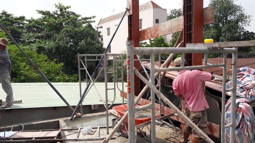 Thi công nhà phố hiện đại 4 tầng Biên Hòa Đồng Nai - Ảnh công trường 15