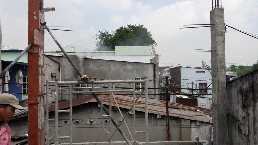 Thi công nhà phố hiện đại 4 tầng Biên Hòa Đồng Nai - Ảnh công trường 17