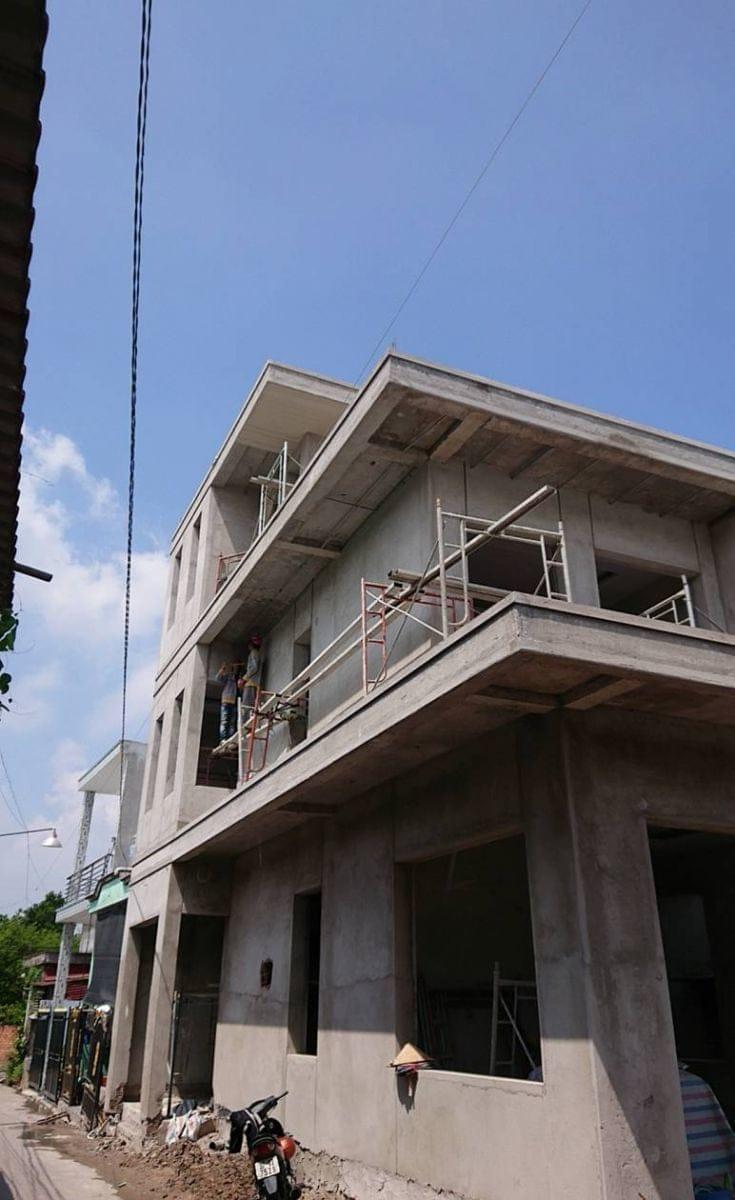 Thi công nhà phố hiện đại anh Hậu tại Trảng Bom Đồng Nai - Ảnh công trường 3