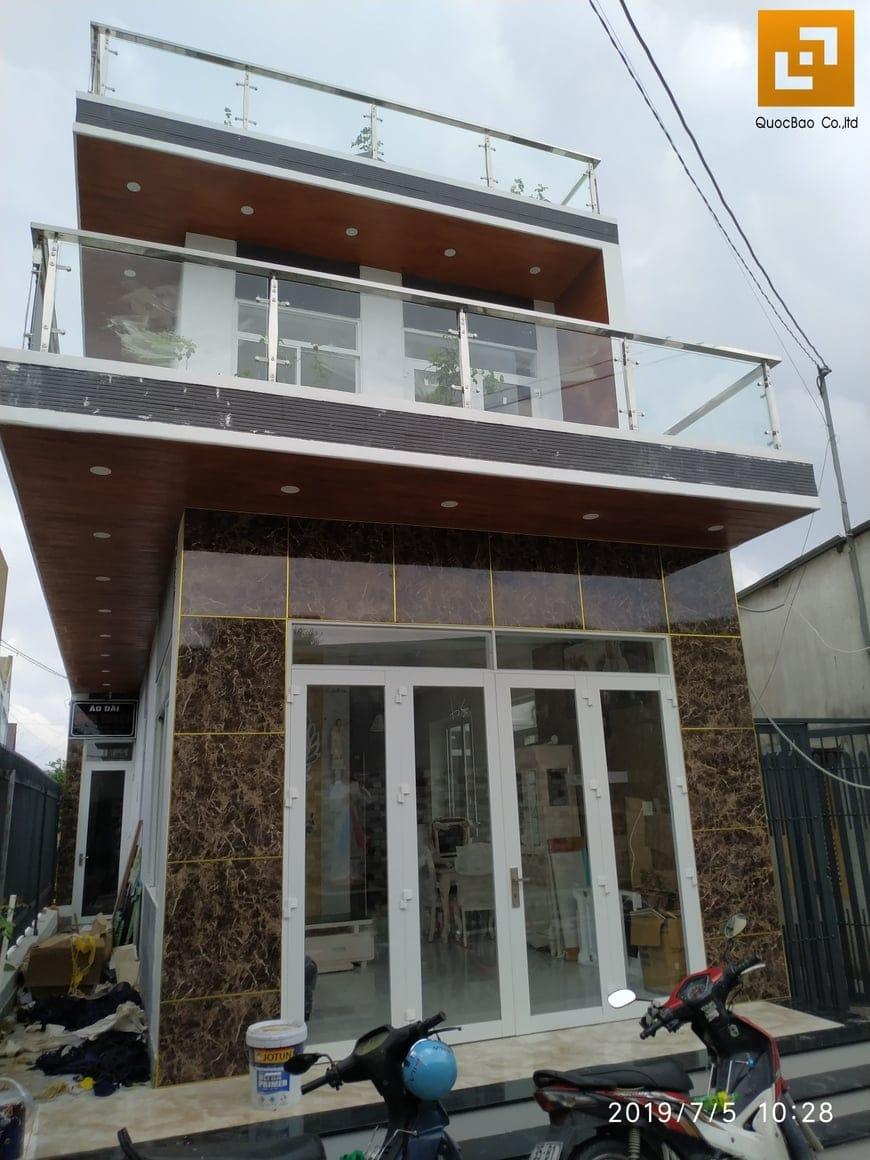 Thi công nhà phố hiện đại anh Hậu tại Trảng Bom Đồng Nai - Ảnh công trường 9