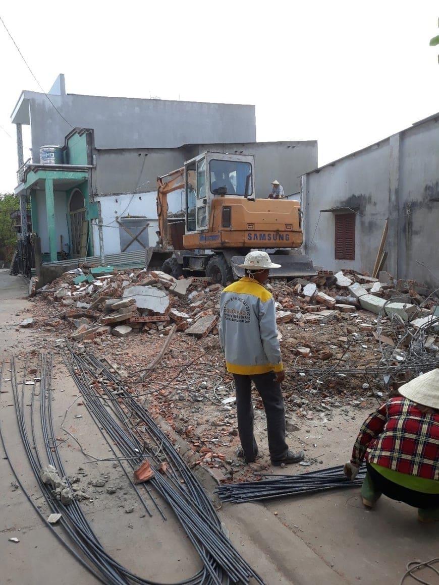 Thi công nhà phố hiện đại anh Hậu tại Trảng Bom Đồng Nai - Ảnh công trường 1