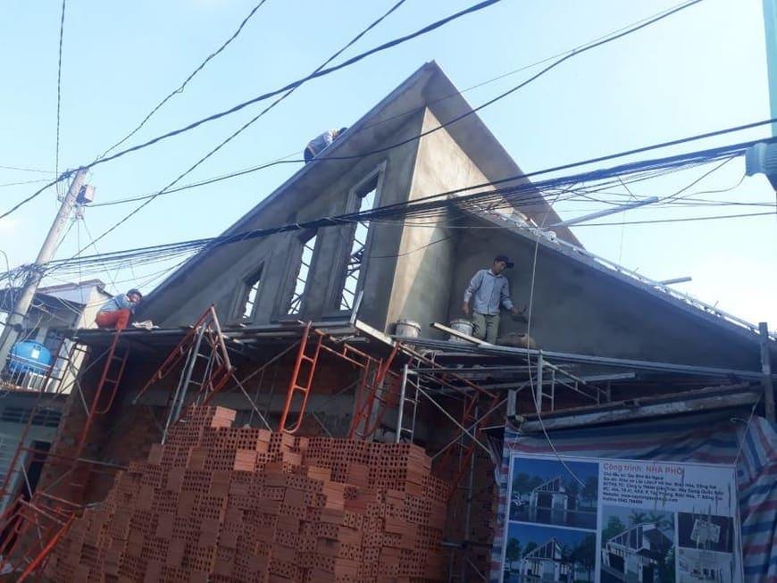 Thi công nhà phố hiện đại bà Ngoại Lộc Lâm - Biên Hòa - Ảnh công trường 8