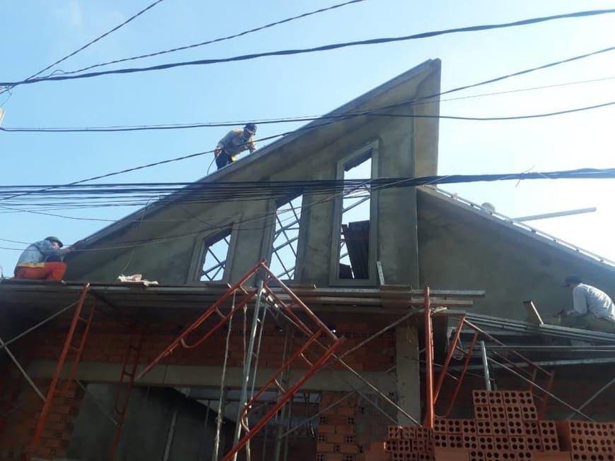 Thi công nhà phố hiện đại bà Ngoại Lộc Lâm - Biên Hòa - Ảnh công trường 9
