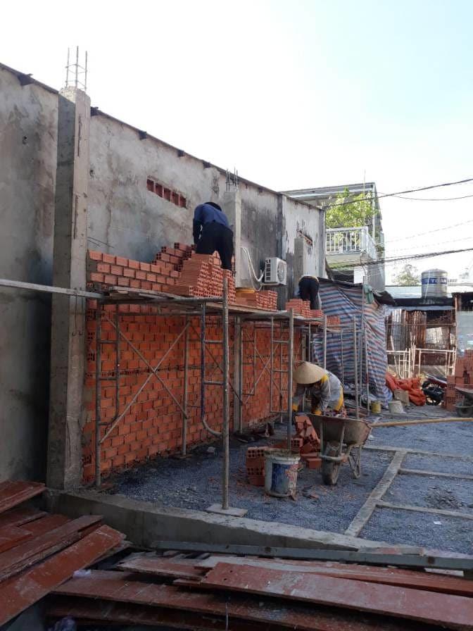 Thi công nhà phố hiện đại bà Ngoại Lộc Lâm - Biên Hòa - Ảnh công trường 5