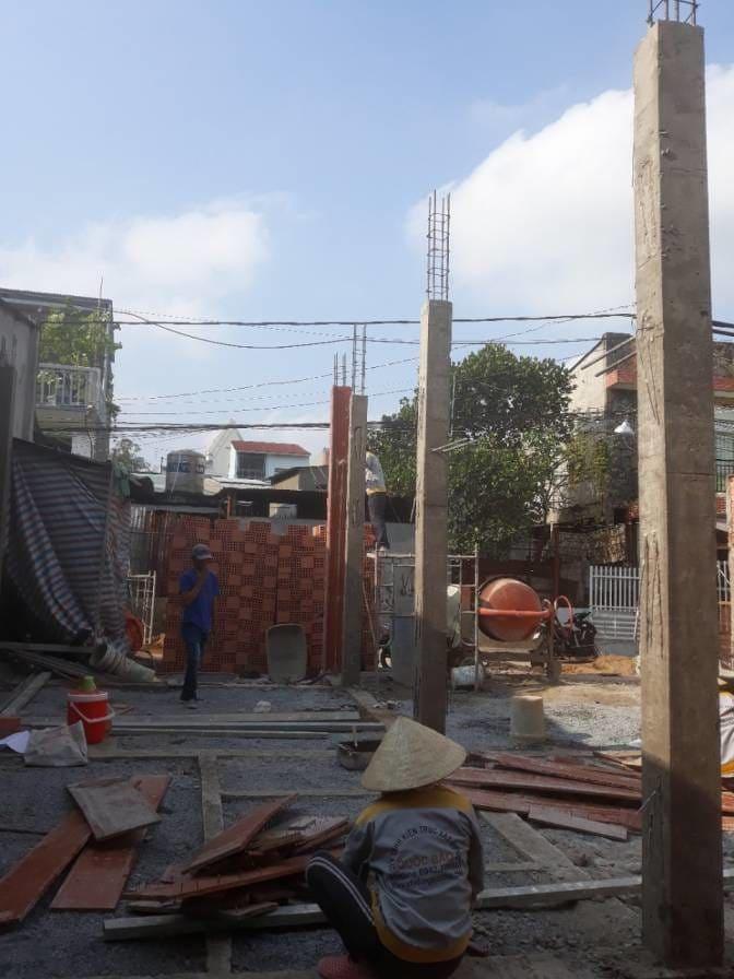 Thi công nhà phố hiện đại bà Ngoại Lộc Lâm - Biên Hòa - Ảnh công trường 6