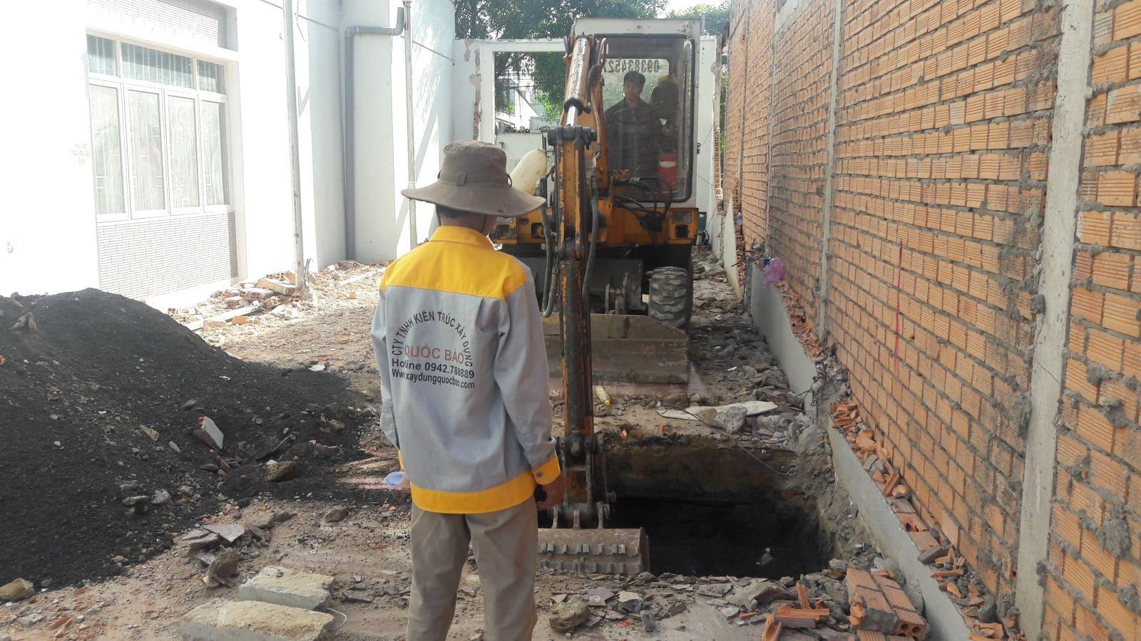 Thi công nhà phố kết cấu thép gia đình chị Quỳnh Chi tại Hố Nai - Biên Hòa - Đồng Nai - Ảnh công trường 3