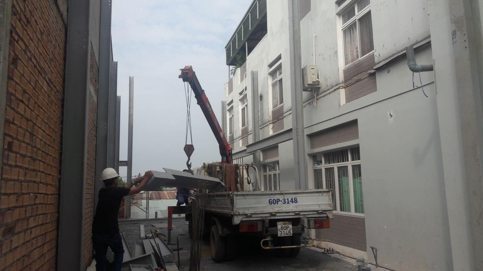 Thi công nhà phố kết cấu thép gia đình chị Quỳnh Chi tại Hố Nai - Biên Hòa - Đồng Nai - Ảnh công trường 5