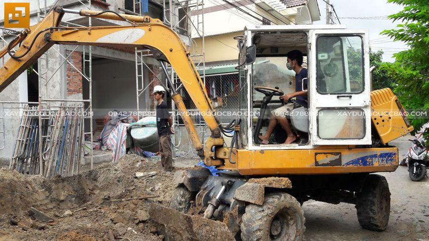 Thi công nhà phố sân vườn anh Hiếu tại Biên Hòa - Ảnh 1